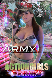Actiongirls Hero Michelle Army Photo Layout & Zip